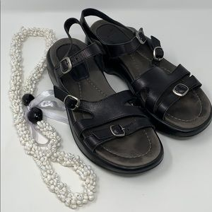 Dansko black sandals size 39